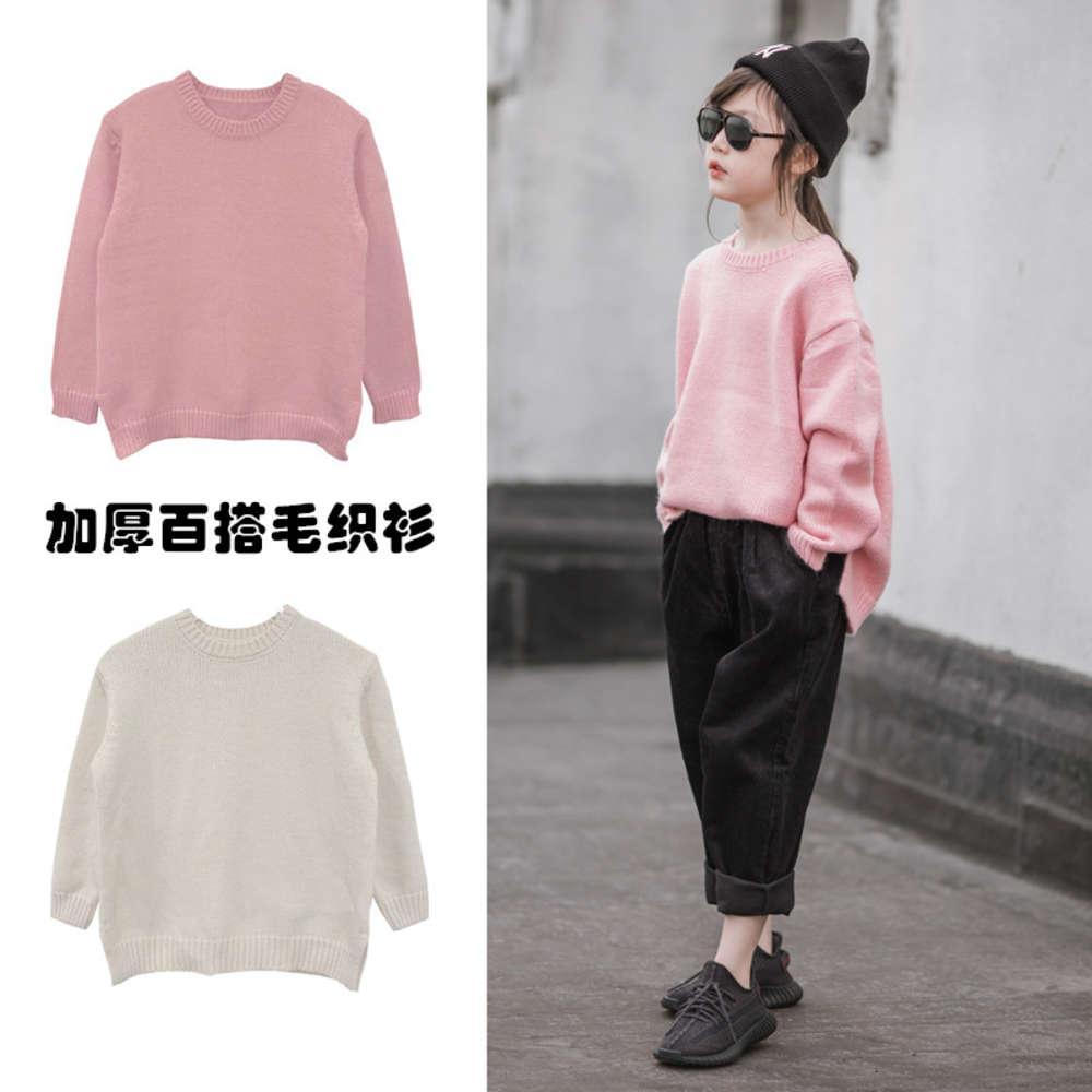 T-shirt delle ragazze Autunno Inverno 2020 New Wear Medium e Grande Maglione per bambini Pullover con SLE straniero