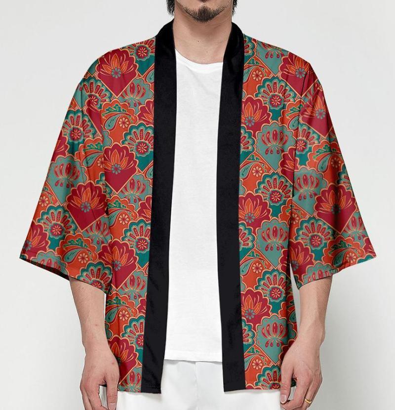 Ethnische kleidung big 4xl japanisch kimono cardigan unisex haori yukata sommer samurai jacke frauen männer drucken cosplay streetwear strand