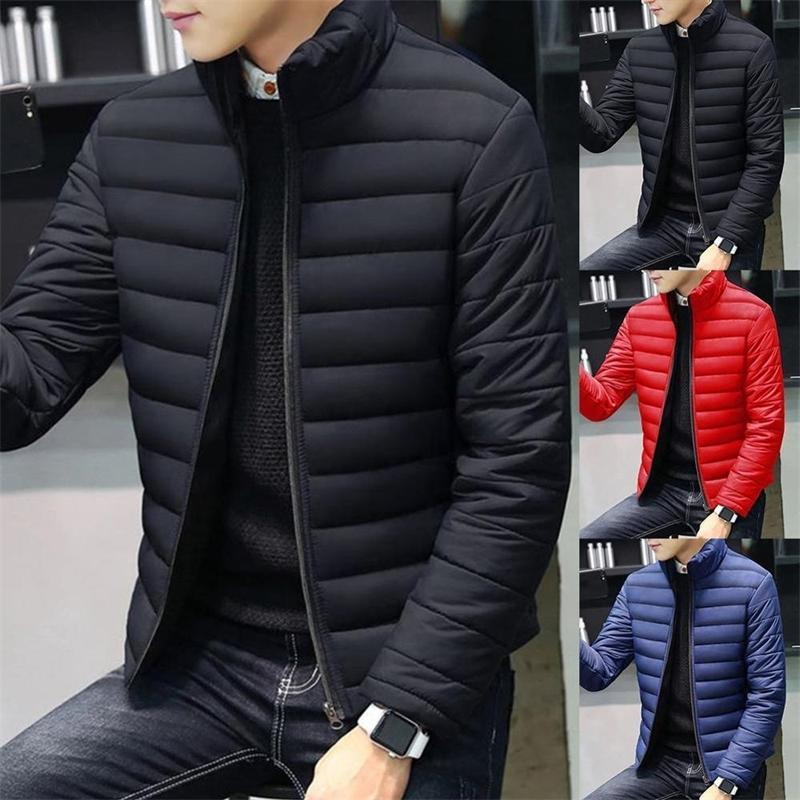 ماركة الخريف الشتاء جديد الرجال جاكيتات طوق سميكة معطف للذكور أسفل القطن الملابس سترة الملابس الملابس