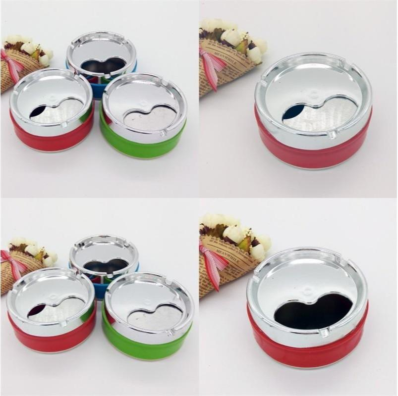 Cylindrical Ashtrays Office Windbreak With Cover Ashtray Rotate Self Extinction Multi Color Home Hotel Smoking Accessories 1 39yl G2
