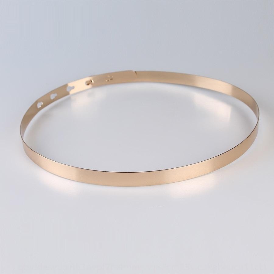El metal de plata de la correa delgada del vestido formal del vestido de noche de la moda complementos decorativos de la mujer del espejo del oro de la correa DBb6V