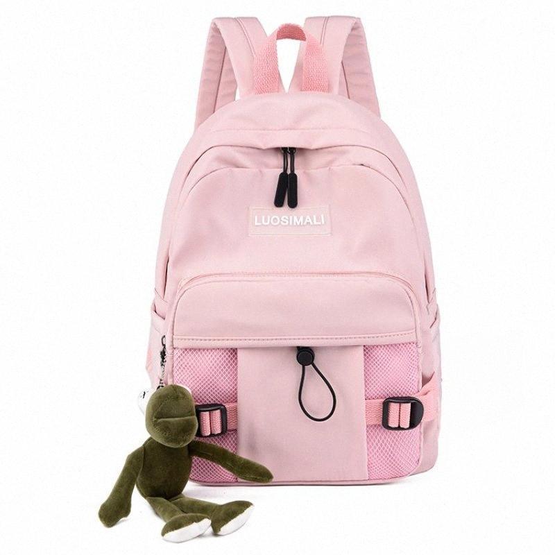 Zaino semplice Versatile zaino da viaggio di grande capienza Borse Luce Student Schoolbag multi laterali impermeabili Pendant 65xu #