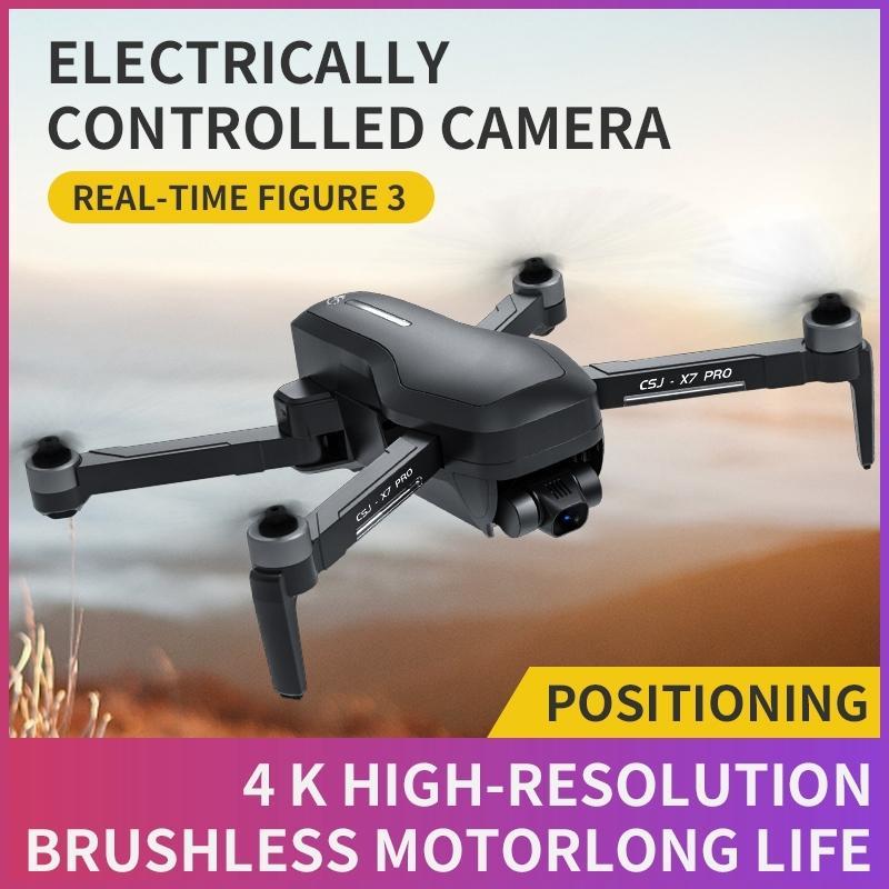 GPS Drone 4K Camera Foldable Quadcopter with Brushless Dron FPV Wifi Follow Me 26 Minutes Flight Time CSJ X7 PRO 2 Vs SG906 Pro2