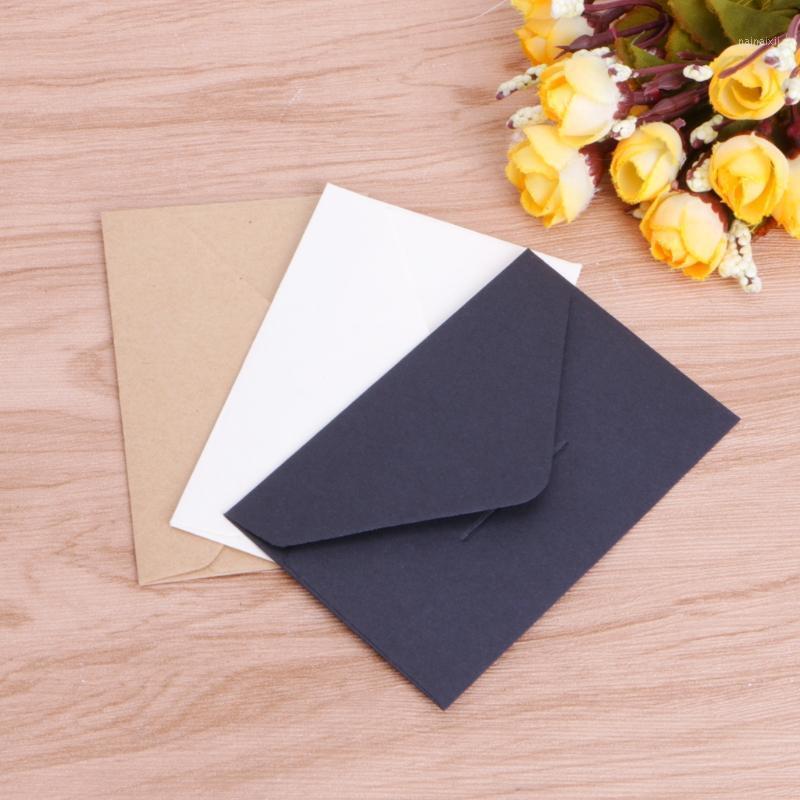 50 pçs / lote artesanato envelopes vintage estilo europeu envelope para cartão scrapbooking presente r9ua1