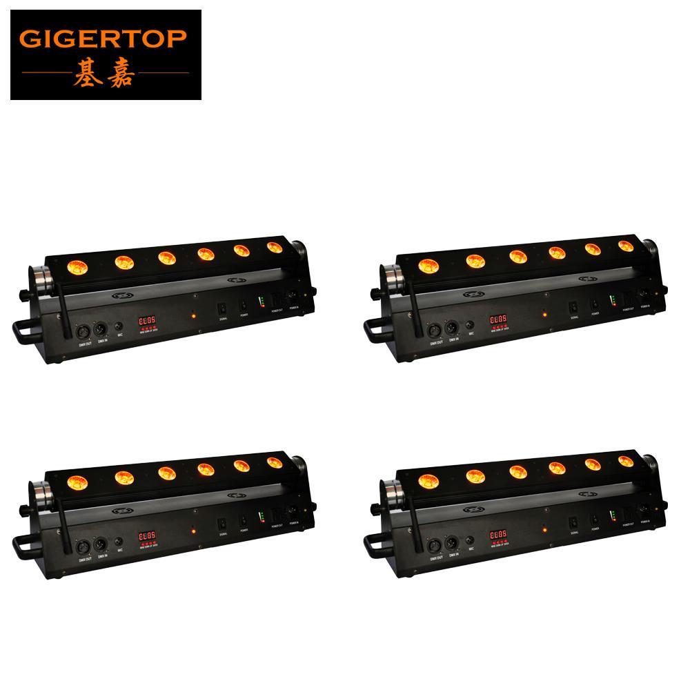 Portátil 6 LED holofote 18W Trabalho recarregável Luz de inundação camping lâmpada não impermeável para a iluminação interna com carregador de bateria