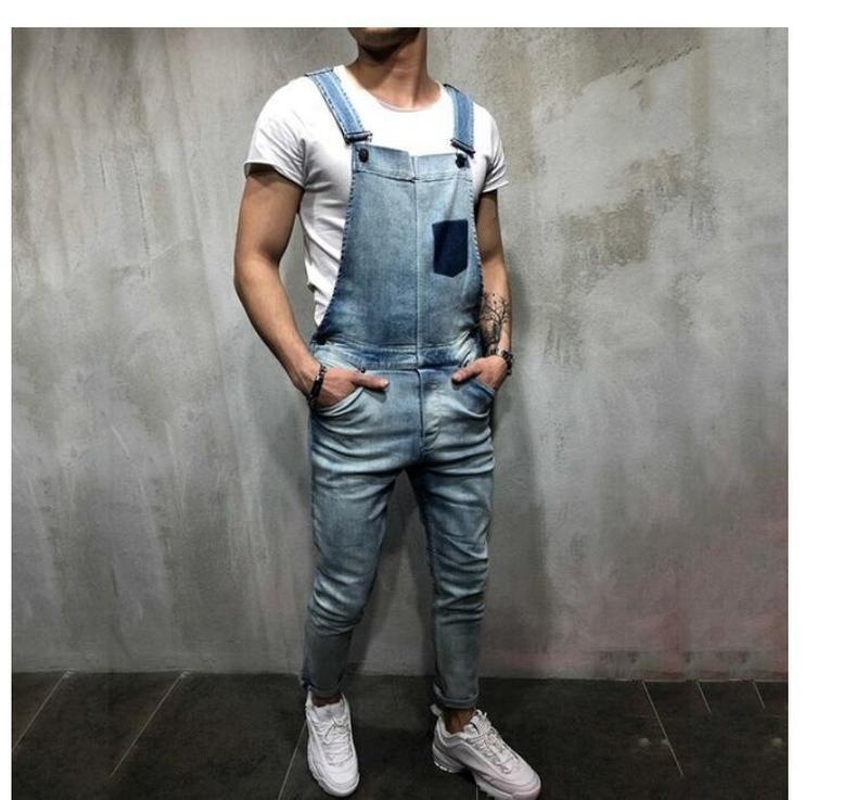 Herren-Hosen-Jeans Männer Used-Look Stretch zerrissene Jeans-Männer Slim Fit Punk Denim-Baumwollhosen Reißverschluss-Bügel-Denim-Hose