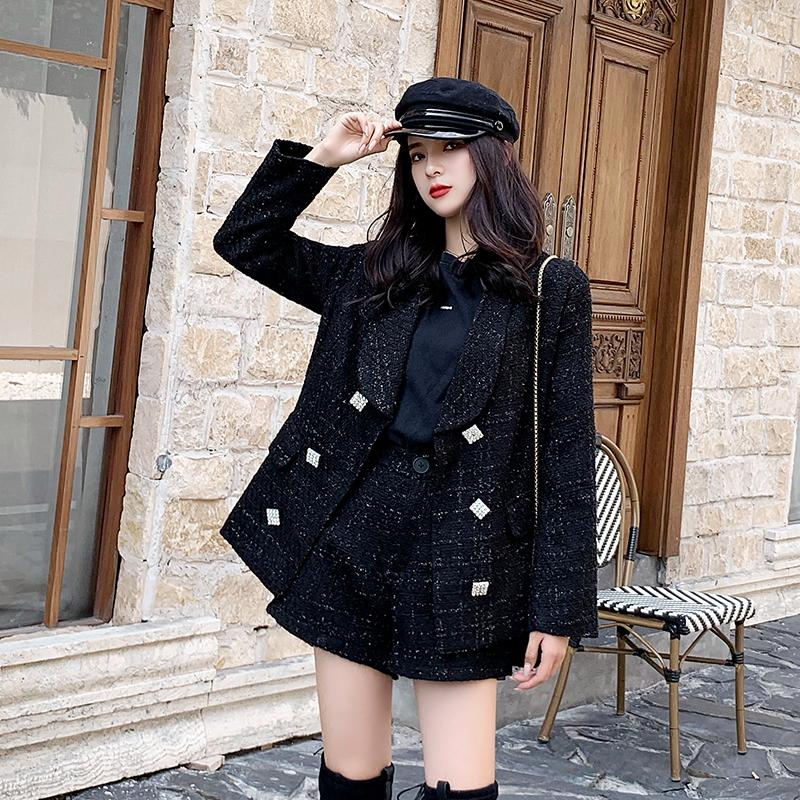 İki parçalı Moda Ceket Takımı Kardeş Stil Kadın Cape Coat Kadınlar Cloak Bayan İlkbahar Sonbahar ceketler Uk Tweed Bayanlar Coats GothicX1016