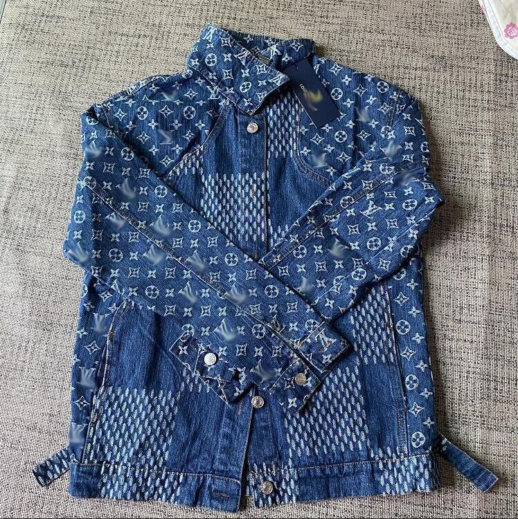 2020 Moda Europeia e Americana De Produtos De Outono, Patchwork Jacquard Design, Alta Qualidade Denim Jacket, Cardigan Single Breasted