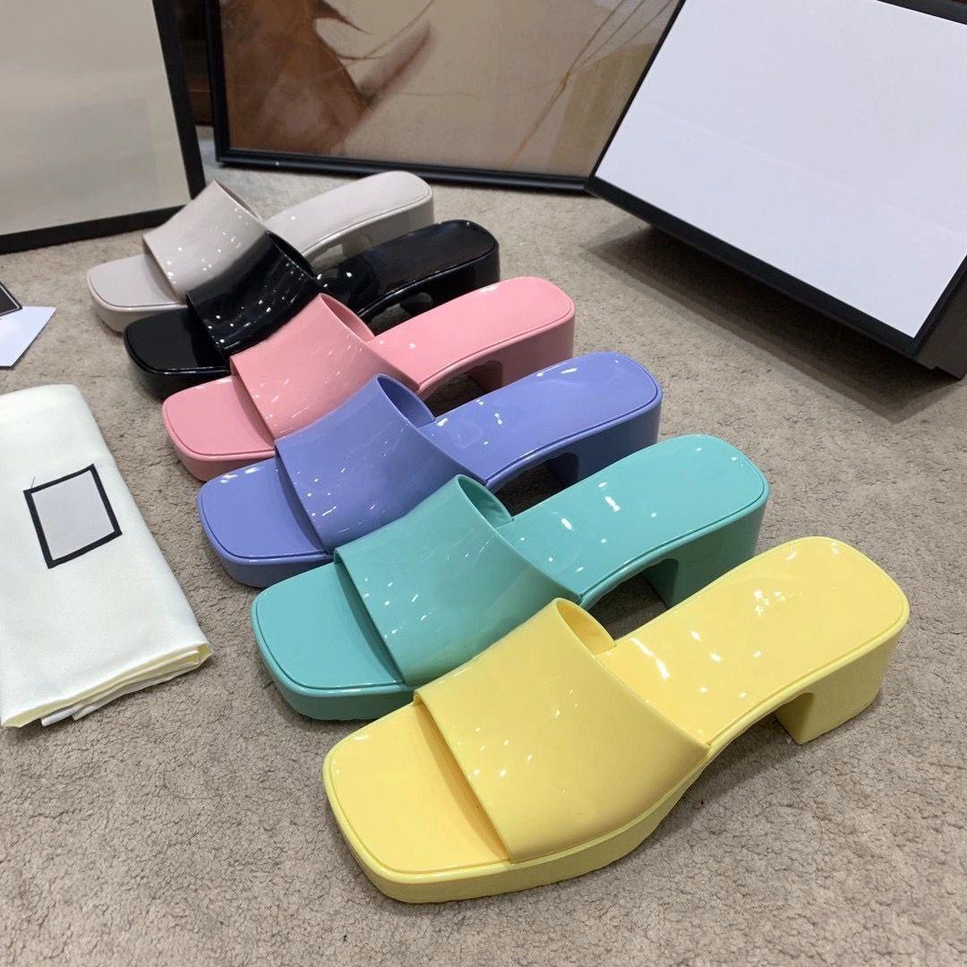 2021 nuove scarpe gelatina-tallonati delle donne, materiale bello, satinato, integrazione reciproca, selezione dei colori, può essere sexy e carina, ih medio