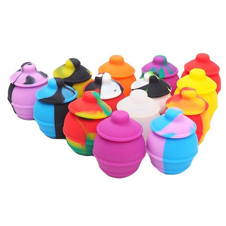 Mix Color 35ML горшок нефтяной контейнер для воска без палки силиконовые контейнер хранения банку ассорти