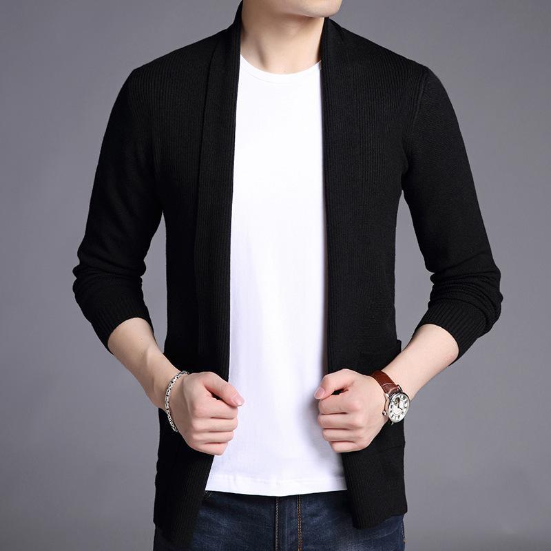 2020 nueva chaqueta del suéter de color sólido de la ropa de sport de los hombres de los hombres chaqueta de manga larga ropa de abrigo chaqueta de punto