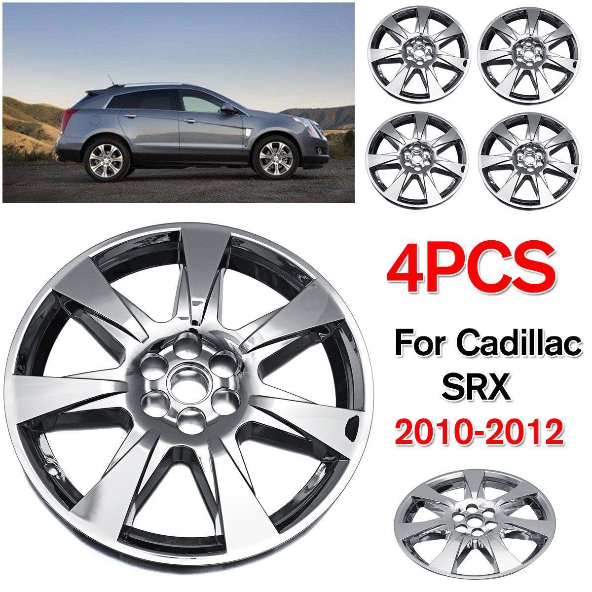 """4PCS / SET Car 20"""" Hubcaps prata ABS roda de ferro calotas Cap Capa Para 2010 Cadillac SRX 2012 Auto Revisa Acessó"""