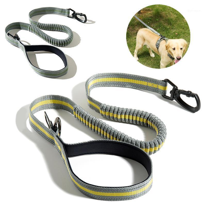 Собаки ошейники поводки Bungee поводки питомца эластичные свинцы веревки для кошек собаки сверхмощные отражающие поглощающие тренировки поводки1