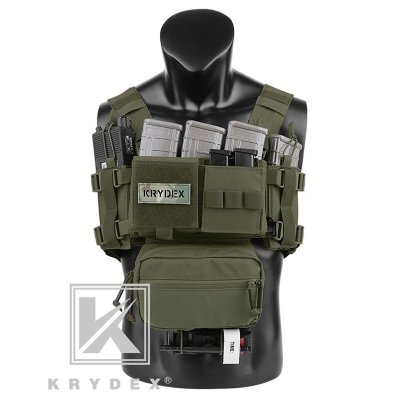 Krydex MK3 Cofre modular Chasis Chassis Spiritus Airsoft Hunting Military Tactical Carrier Challo W / 5.56 223 Magazine Bolso Y201123