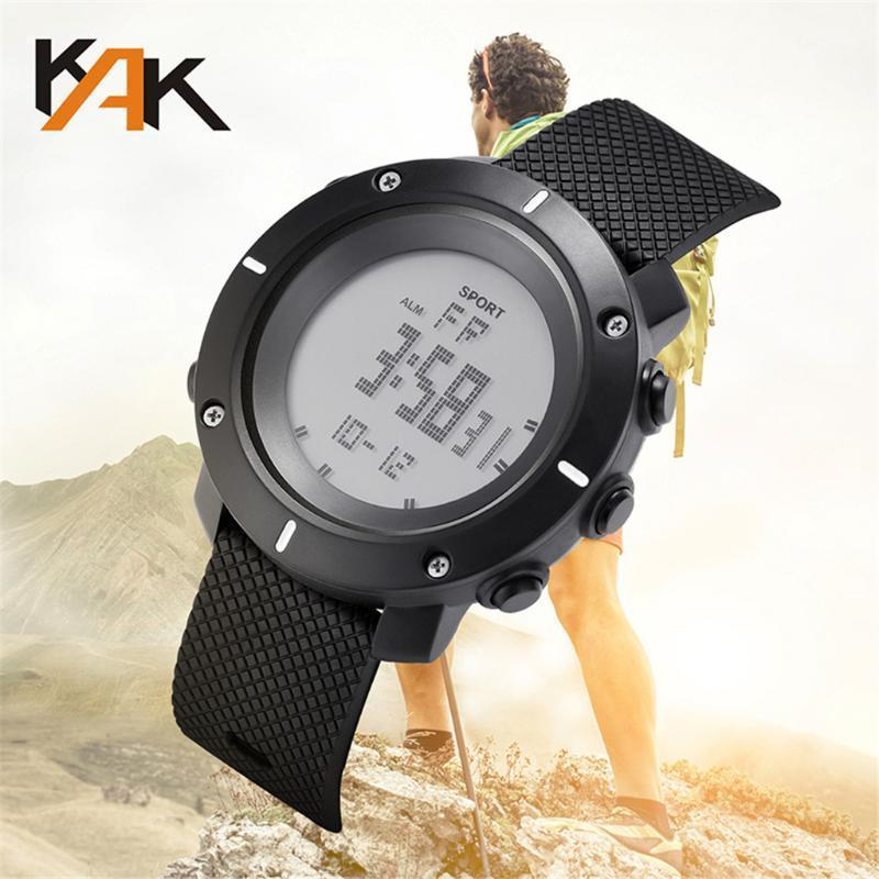 Moda LED reloj digital hombres deportes corriendo multifunción impermeable reloj electrónico reloj Reloj de hombre WD31