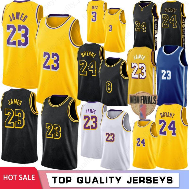 Hot LeBron 23 James Basketball Jerseys BRYANT Anthony Kyle Davis Kuzma 8 Men Kids Johnson Los AngelesLakersKobe24