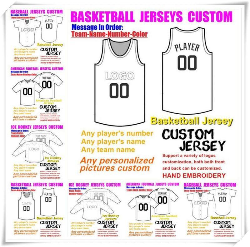 Custom Basketball Béisbol Hockey sobre hielo Hombres Mujeres Niños American Football Jerseys College Vapor Intouchable Steinsed Jersey Coser 4XL 5XL 6XL