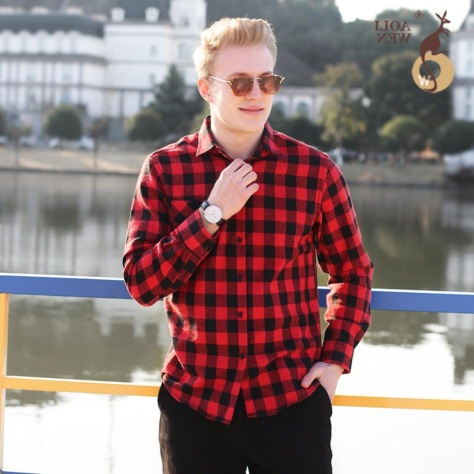 2020 Новая мода дизайн мужская повседневная рубашка черная и красная плед печать свободно комфортно для мужской одежды размер m-5XL
