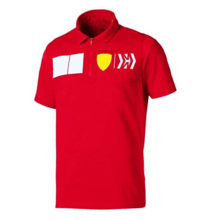 F1 Fans Racing Anzug Reißverschluss Revers Polo Hemd Auto Kultur Overallsaison Saisonteam Joint Kurzarm Schnelltrocknende Anzug Logo Anpassung