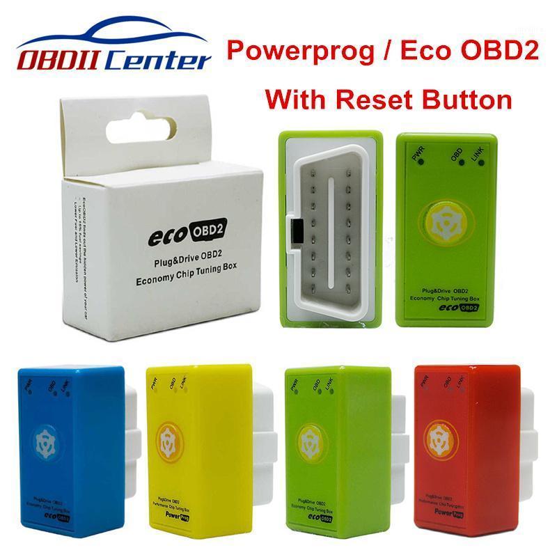 Kod Okuyucular Tarama Araçları Tam Çip Power Prog Nitroobd2 ECO OBD2 Dizel Benzin Tuning Kutusu Sıfırlama Düğmesi Powerprog Nitro Yakıt Tasarrufu Daha fazla Powe