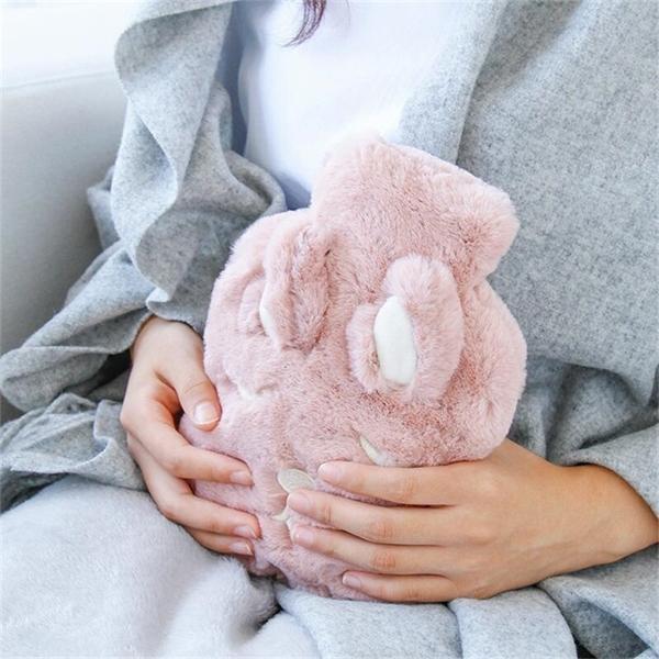 Cute Water Injection Hot Bottle Girls Bags Winter Hand Warmer Plush Bag PVC Warm Baby Heat JJ207 T191109