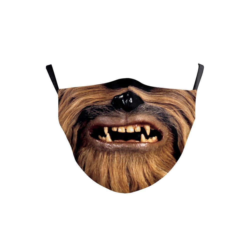 Novas máscaras de moda designer de máscara facial personalizados crianças Crânio Monstro dos desenhos animados do cão Funny Face Expression impressão do Dia das Bruxas