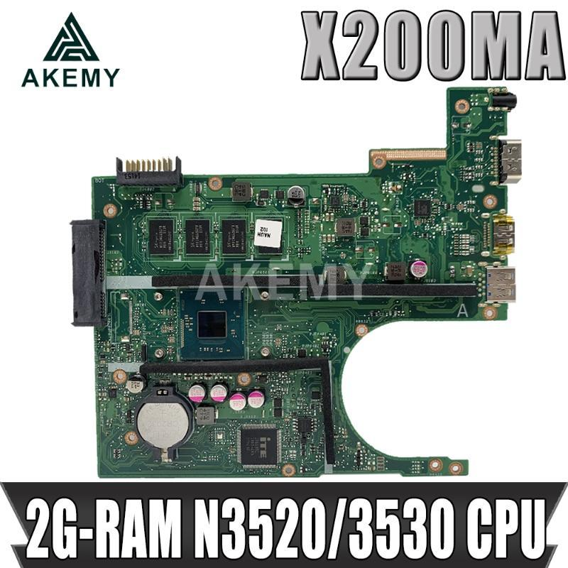 Akemy X200MA Laptop motherboard For Asus X200MA F200M F200MA Test original motherboard 2G-RAM N2830/N2815