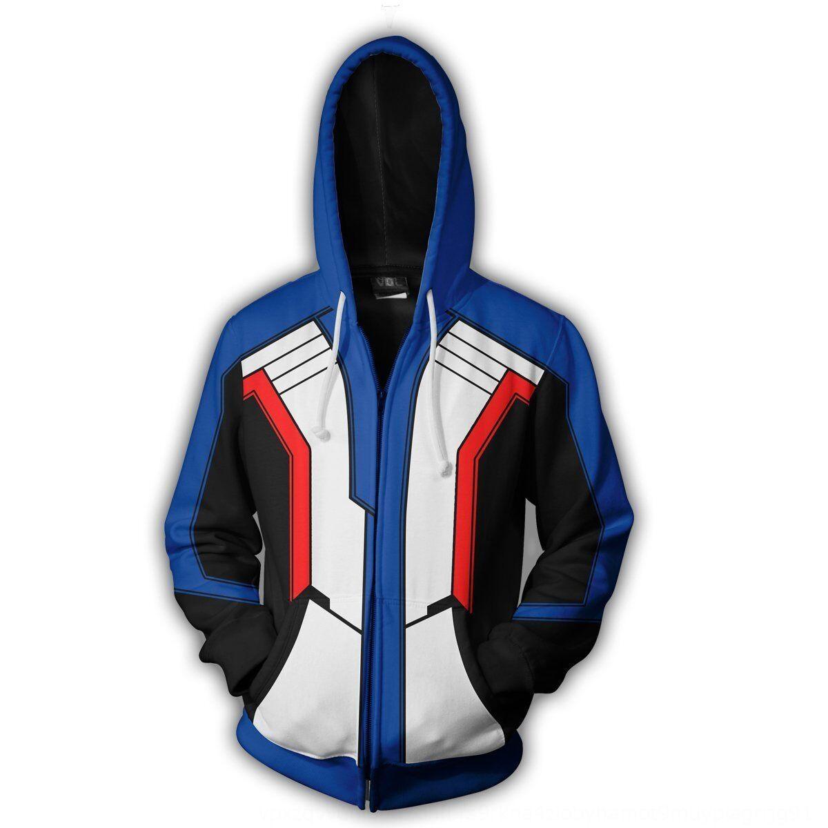 Cosplay Yeni hoodiezipper kapşonlu garde DVA 3D fermuar hırka Hoodie Cospla baskılı avant izle hırka Yeni izle avangart DVA 3D baskılı