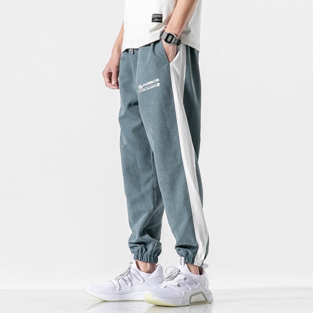 8DQL4 2020 Estate in di sport della caviglia vincolanti alla moda Corea del hip hop pantaloni casual casuali degli uomini alla moda di pantaloni stampati nuovo EIrFt