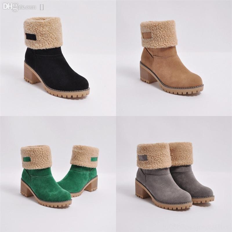 TMX3F Top Winter Femmes Chaussures de laine Designer Hommes Haut-Homme Bottes de haute qualité Bottes De Haute Qualité Neuf En daim Bottes Classic Bottes Neulée Bottes Neulée Bottes Sangles