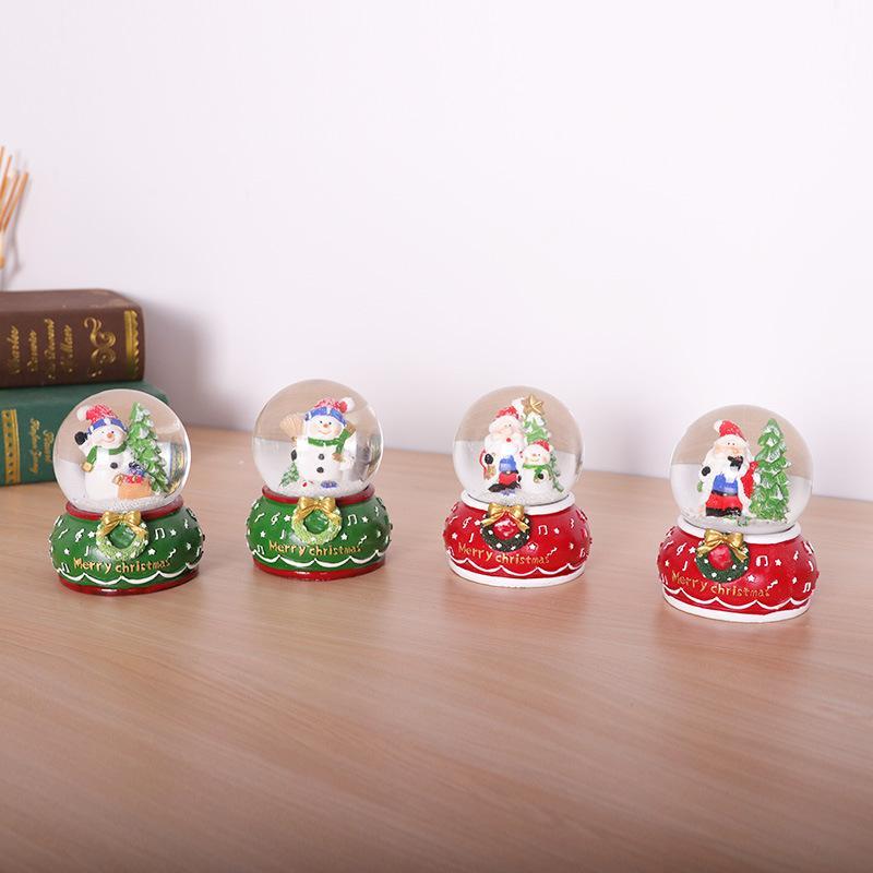 Творческий мультфильм Шары Санта снеговика Светящиеся хрустальный шар Дети девушки Рождественский подарок украшения рабочего Dropshipping F9701