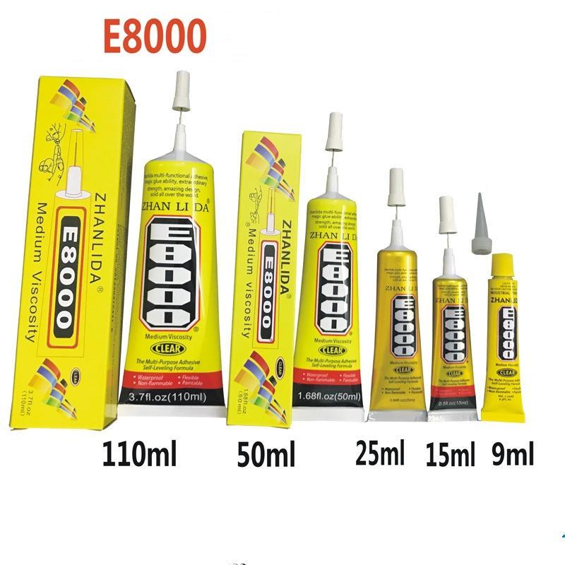 Best E8000 Glue 15ml/50ml110ml Multi Purpose Adhesive Epoxy Resin DIY Crafts Glass Touch Screen Cell Phone Repair
