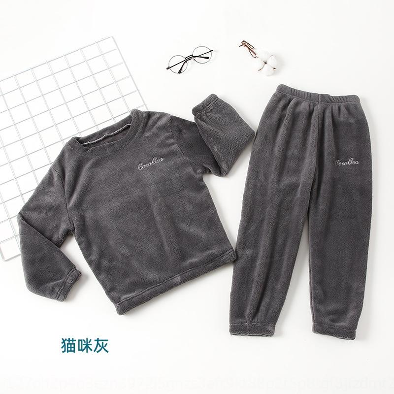 dYs6 Autumn Winter 2020 Home And Clothes Baby Set Children Pure Cotton Warm T-Shirt Large PP Pants Boys Girls Underwear Pajamas comfortable