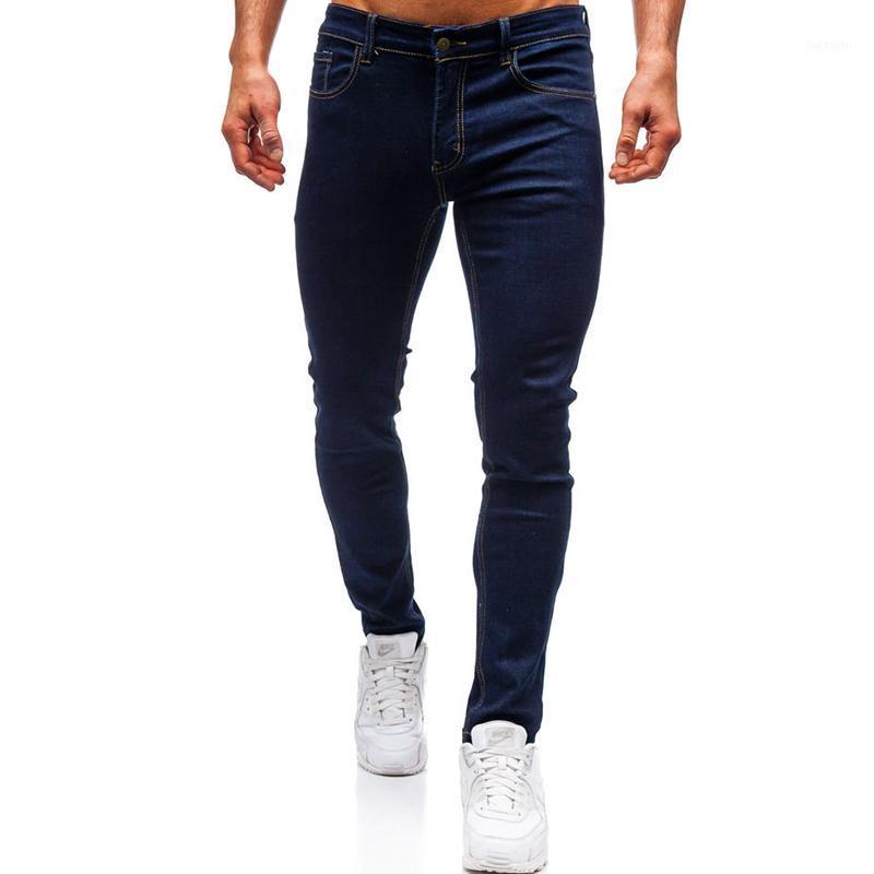 Código Europeo Fashion Fashion Fashion Casual Dark Blue Jeans1