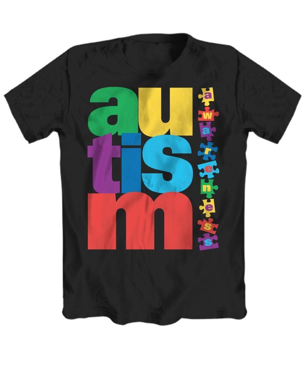 2020 Venda quente Super Moda Autismo Consciência! T-shirt de manga curta - t-shirt unisex personalizado 1021
