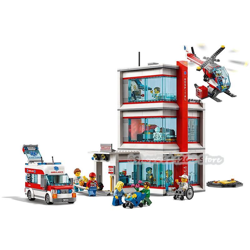 2020 Nuevos Lepinlys 02113 Ciudad del Hospital Centro de juguetes Bloques de construcción de juguetes Regalos de cumpleaños infantiles DIY ensamblados juguetes 1008