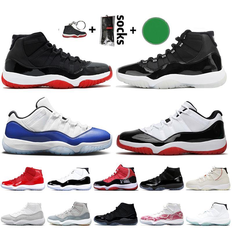 Con caja Nike Air Jordan 11 Retro 11 11s Jumpman Bred Concord Mujer Hombre Zapatillas de baloncesto Zapatillas de deporte plateadas metalizadas Cool Grey 2020 Zapatillas