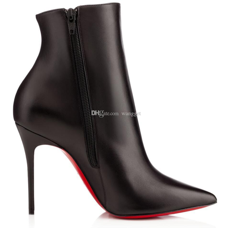 do elegante Sokate Inverno Booty mulheres vermelhas inferiores Botas Sexy Ladies Pointed Toe Calçados Moda Salto Alto Vestido de partido EU35-43, com caixa
