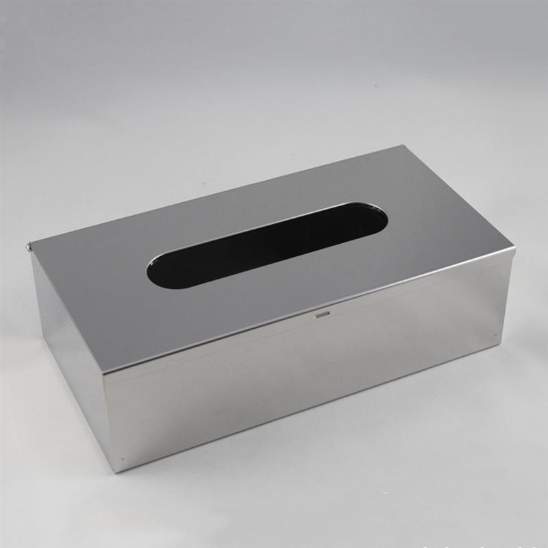 Влажная коробка для мокрый ткани для рабочего стола Детская салфетка для хранения бумаги Держатель для хранения бумаги Держатель бытовой нержавеющей стали Водонепроницаемая ткань