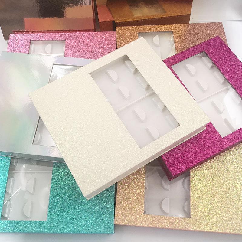 Kirpik Kutu İnce Dağı Hediyesi Box Of Packaging 10 Çiftler Kirpikleri Kutuları Dikdörtgen Yanlış Kirpik