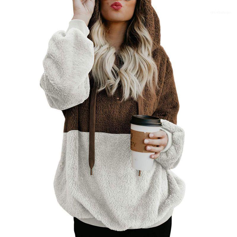 Женские толстовки для толстовки Флисовая меховая толстовка осенью пуловер с длинным рукавом с капюшоном из искусства Хараджуку1