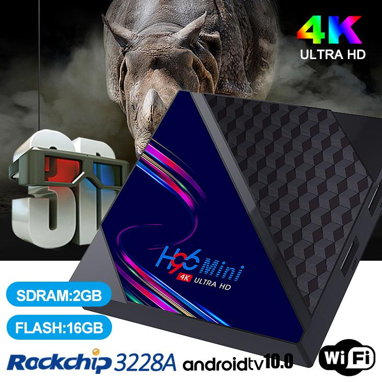 H96 Mini V8 RK3228A Android 10.0 TV Box 2GB+16GB With 2.4G Wifi HD 4K PK T95 X96Q Set Top Box