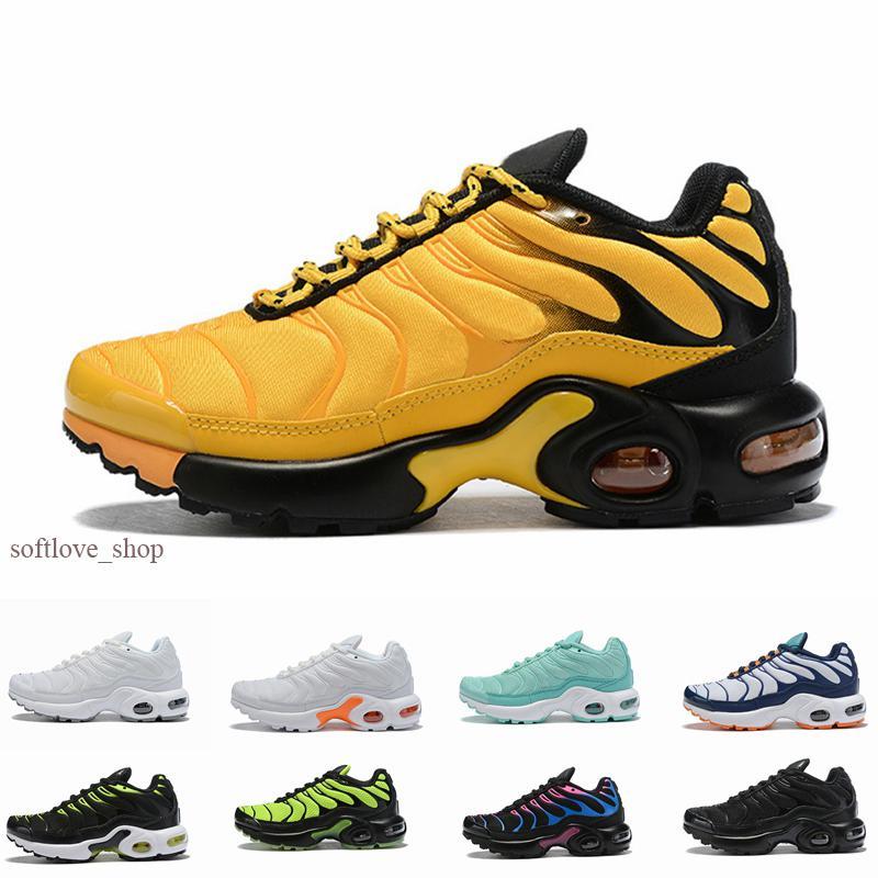Nike Air Max Plus TN 2019 مصمم كلاسيكي للأطفال أحذية أطفال بنين بنات رياضة الجري أحذية طفل أحذية رياضية مصمم المدربين الركض حجم 28-35