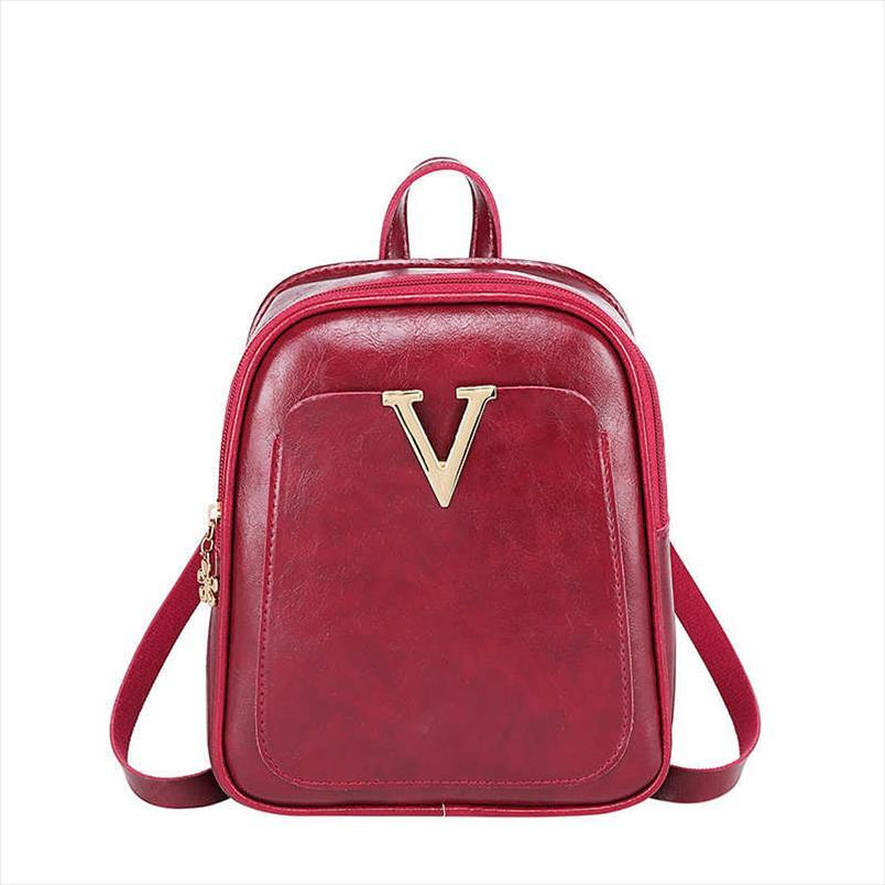 Vento Marea Mini mochila para Adolescentes 2019 Moda feminina Shoulder Bag Multi-Function Bolsa Saco pequeno pacote Red Feminino Telefone