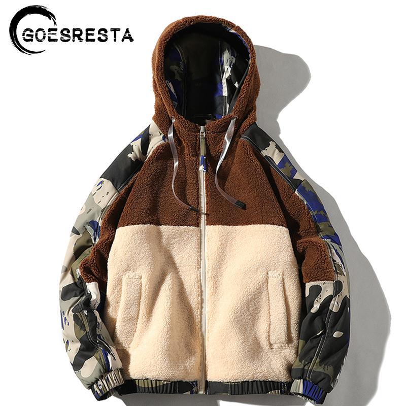 GOESRESTA yepyeni Erkekler Ceketler Streetwear Sonbahar Ve Kış Vahşi Moda Günlük Ultralight Ceket Ceket Men 201023 Isınma