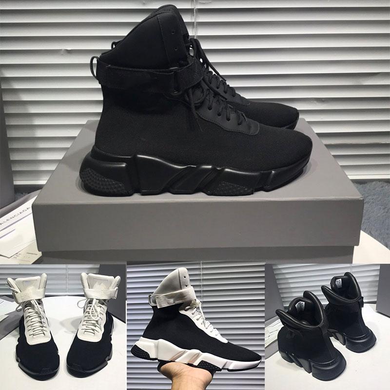 chaussures chaussettes chaussures spécial hiver hommes et femmes chaussures de sport haut-dessus boucle magique cheville texture haut Ajouter 2.5cm triple semelle antidérapante