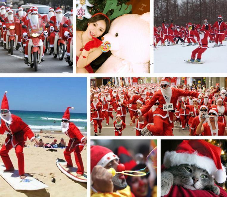 Heißer verkauf meischen rfm erwachsene männlich fünf teile gepolsterte cosplay santa claus kostüm Führen Sie Weihnachtsdekorationen durch