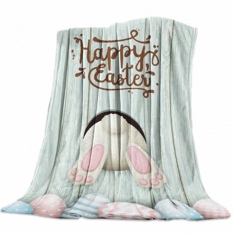 Páscoa em madeira Ovos bonito Animais Humor flanela velo Cama Cobertor Colcha Coverlet Cama Cobertores Capa macio morno Lap Tamanho Elec gti6 #