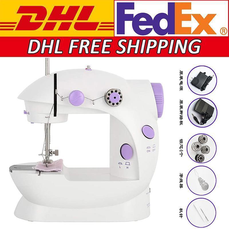 DHL Envío gratis Mini Pedal de mano Máquinas de coser Multifunción eléctrica eléctrica Banda de rodadura de rebobinado Máquina de coser FY7043