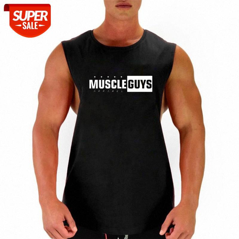 MuscleGuys Brand Abbigliamento Bodybuilding Bodybuilding Body Body Mobile Sexy Summer Cotton Summe Syless Camicy Shirt Gyms Uomo Maglietta Tops # Q26C